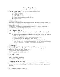examples of teachers resumes example of teacher resume example