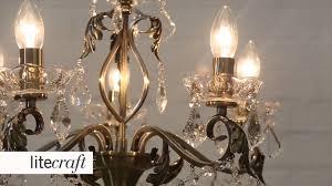 Aged Brass Chandelier Romeo 5 Light Antique Brass Chandelier Litecraft Lighting Your
