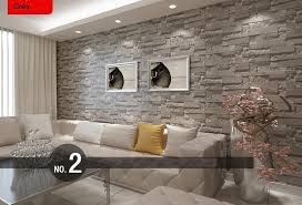 wallpaper for livingroom modern stacked brick 3d wallpaper roll grey brick wallpaper