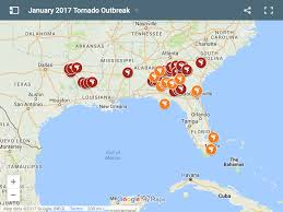 Map Of Florida Gulf by Series Of Tornadoes Ravage Gulf States Redzone