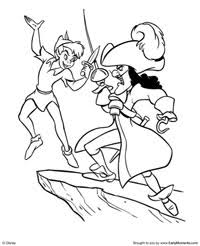 10 images wendy captain hook coloring pages peter pan captain