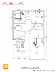 Calculating House Square Footage 3 Bed Room 1500 Square Feet House Plan Architecture Kerala