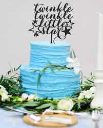 twinkle twinkle cake topper gender reveal cake topper baby boy baby girl twinkle twinkle