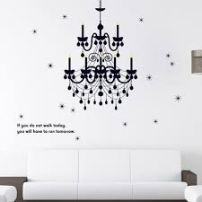 compare prices on chandelier wall decals online shopping buy low 160 130cm grand chandelier lighting fancy wall decal vinyl art words sticker art bedroom classy