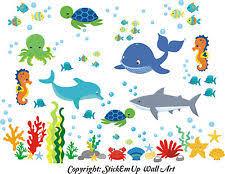 sea life nursery wall decals u0026 vinyl art ebay