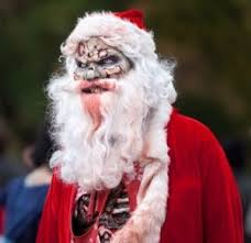 Bad Santa Halloween Costume Baseball Furies Santa Zombie