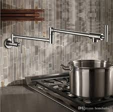 pot filler kitchen faucet 2018 brushed nickel brass pot filler kitchen faucet wall mounted