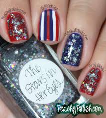 4th of july nail art x 4 peachy polish