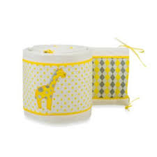 yellow crib bumper from buy buy baby