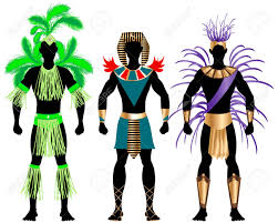mardi gras carnival costumes illustration of three costumes for festival mardi gras