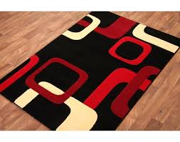 Modern Black Rugs Black And Rug Cafedream Info