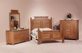 Bedroom With Oak Furniture Holmes County Oak Wood Bedroom Set Amish Made