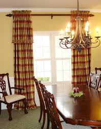 curtain ideas for dining room dining room patterned drapes with curtains for big windows also