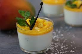recette facile de la panna cotta exotique vanille et mangue