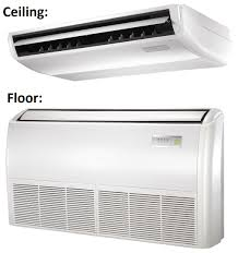 mitsubishi ductless ceiling mount midea 12000 btu 19 seer universal mount mini split heat pump ac