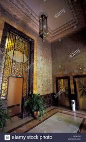 art deco interior of bacardi building havana cuba stock photo