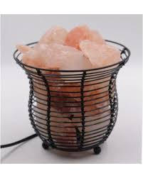 himalayan salt l basket great deal on l basket with himalayan salt crystals natural air