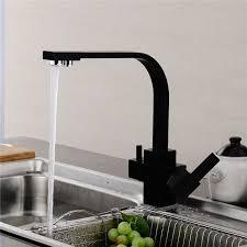 Kitchen Water Faucets Usherlife Multifunctional Black Kitchen Faucet Water