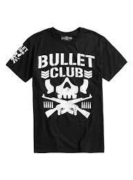 new japan pro wrestling bullet club logo shirt hot topic new japan pro wrestling bullet club logo shirt black loading zoom
