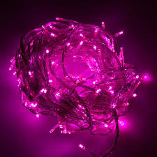lights pink fluffy lights battery operated led