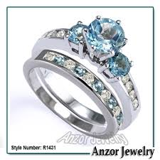 blue topaz engagement rings anzor jewelry 14k solid white gold london blue topaz and diamond