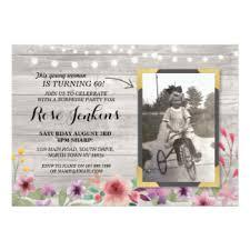 floral birthday invitations announcements zazzle