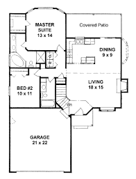 home plans florida traditional style house plan 2 beds 2 baths 1103 sq ft plan 58