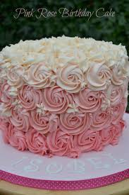 pink ombre rosette baby shower cake shower cakes rosettes and ombre