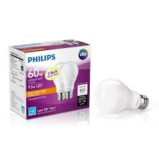 60w Led Light Bulb by Amazon Com Philips 461228 60w Equivalent Soft White A19 Dimmable