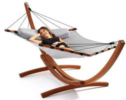 lujo living free standing double hammock with stand fresh garden
