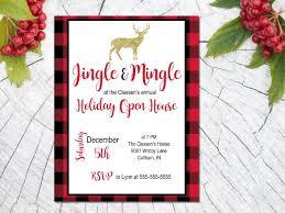 Christmas Open House Ideas by Printable Christmas Party Invitation Plaid Christmas Invite