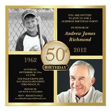 50th birthday invitations u0026 announcements zazzle