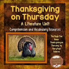 2nd grade thanksgiving novel study resources lesson plans