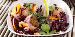 cuisine salade de riz salade de riz sauvage facile recette sur cuisine actuelle