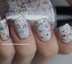amazon com oh splat white glitter nail polish with rainbow