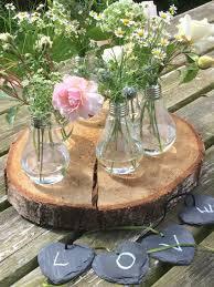 Log Vases Steph U0027s Flower Barn Vintage Prop Hire