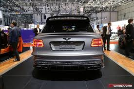 bentley bentayga exterior geneva 2017 mansory bentley bentayga black edition gtspirit