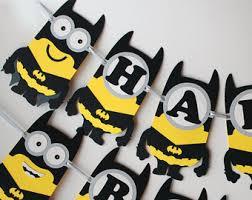 Minion Birthday Decorations Batman Minion Etsy