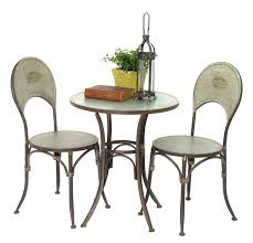 Galvanized Bistro Chair Galvanized Bistro Set Set Of 3 1 Table 2 Chairs