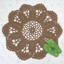 Round Natural Fiber Rug Round Crochet Jute Rug Natural Fiber From Exotiflora Natural
