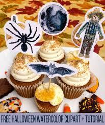 Halloween Cake Tutorial Free Halloween Watercolor Clipart And Tutorial U2014 Pam Ash Designs