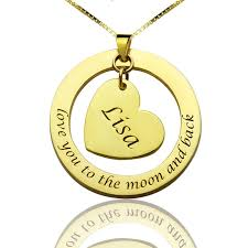 wholesale love necklace images Wholesale anniversary necklace name necklace gold color heart jpg