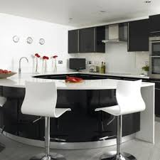 curved island kitchen designs interior design black curved island white granite countertop