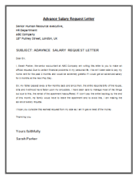 Sle Letter Of Intent For Salary Loan advance salary request letter template payslips