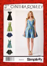 Cynthia Rowley Bathroom Accessories by Simplicity Sewing Pattern 1873 Dress Cape Jacket Wrap Formal