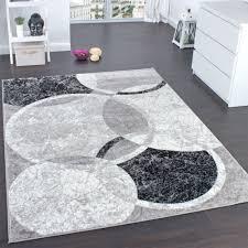 designer teppich designer teppich wohnzimmer teppich kreis muster in grau creme