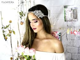bohemian hair accessories bridal headband bridal halo bridal headpiece bridal