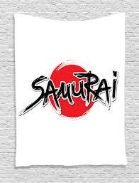 japanese tapestry wall hanging samurai lettering sun home decor ebay