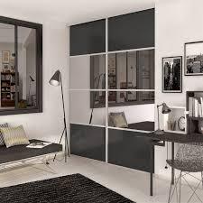 porte de placard chambre porte de placard coulissante spaceo l 98 7 x h 250 cm leroy merlin