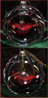 cardinal inside glass dome for special lady christmas ornament